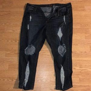 Rue 21 Destroyed Skinny Jeans